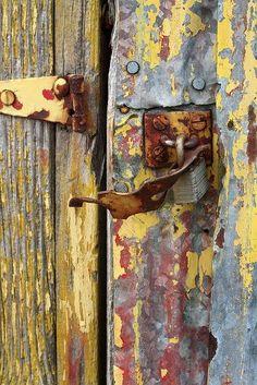 Rustic metal & wood