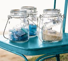 Display your sea glass collection.