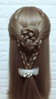 Hairstyle Tutorial 844 - Hair Styles For School Easy Updos For Medium Hair, Easy Hairstyles For Long Hair, Medium Hair Styles, Cool Hairstyles, Long Hair Styles, Elvish Hairstyles, Medieval Hairstyles, Sporty Hairstyles, Hairstyles Videos