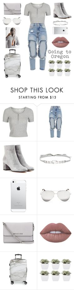 """""""Untitled #125"""" by monalafea26 ❤ liked on Polyvore featuring Topshop, Gianvito Rossi, Jenny Packham, Victoria Beckham, MICHAEL Michael Kors, Lime Crime, CalPak and Abigail Ahern"""
