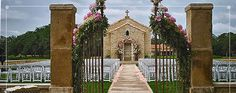 Wedding in front of a old small church - Houston Oaks Country Club