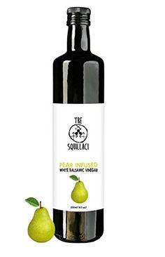 Gourmet Pear Infused White Balsamic Vinegar Naturally Flavored in Italy 8.5 Fl Oz Tre Squillaci http://www.amazon.com/dp/B00ZYXSRTE/ref=cm_sw_r_pi_dp_jkRXwb121PN0X