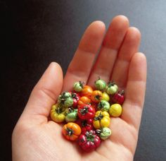 Here are my newest creations. They are heirloom tomato charms! I am going to make a tutorial on how to make them soon so keep your eye out if you want to see how it's done Here are some other pictu...