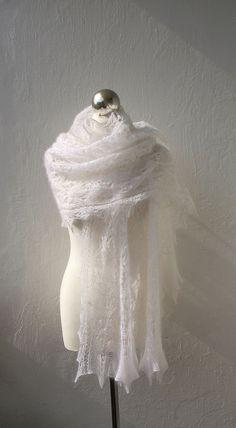 shawl - cobweb like