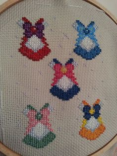 Sailor Moon Inner Senshi Sailor Suits - Cross Stitch Pattern