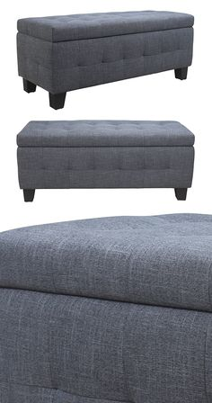 To sit or to store? Intelligently designed, this Gardner Storage Bench will conveniently allow you to do both. Its comfortably cushioned seat is chicly cloaked in delicately button-tufted gray fabric a...  Find the Gardner Storage Bench, as seen in the New Arrivals Collection at http://dotandbo.com/collections/new-arrivals-7-slash-5?utm_source=pinterest&utm_medium=organic&db_sku=124232