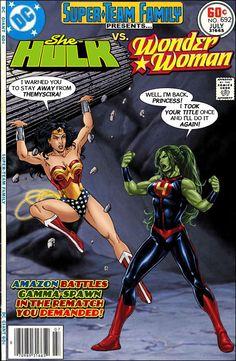Super-Team Family: The Lost Issues!: She-Hulk Vs. Wonder Woman