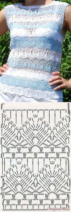 Ideas Crochet Lace Sweater Pattern Knitting Stitches For 2019 T-shirt Au Crochet, Cardigan Au Crochet, Pull Crochet, Gilet Crochet, Mode Crochet, Crochet Shirt, Crochet Jacket, Crochet Diagram, Crochet Baby