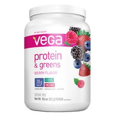 $24.99  Vega Protein & Greens Berry 20g Multisource Plant-Based Protein 2 Servings of Greens | Made from 1.2 Cups of Veggies (Alfalfa, Spinach, Broccoli, Kale)
