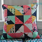 Roundabout Quilt and pillows by thegirlwhoquilts