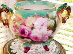 ONE OF A KIND! ~~ Limoges Jardiniere Pickard Artist ~~ THE BEST EVER!!