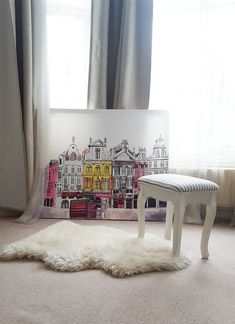 Oversized canvas from Photowall. Check out how I make it in 6 simple steps! #Photowall, #Brussels, #homeinspiration, #brusselspainting, #cosyhome, #homedecor, #pinkdecor #diycanvas #wallart #homeinspo
