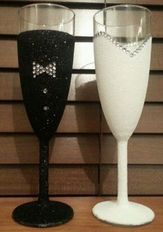 Wedding Glitter Glasses | eBay
