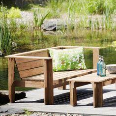 jankurtz Batten Lounge #Draussen #Garten #Terrasse #Holz #Galaxus