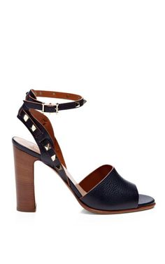 rockstud double textured leather sandals/ I am oddly in love with these