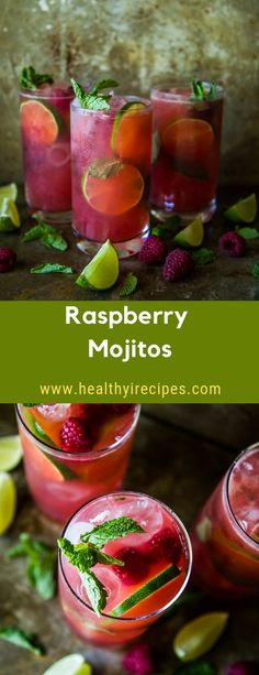 Raspberry Mojitos #drink #raspberry #mojitos