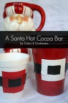 a santa hot cocoa bar