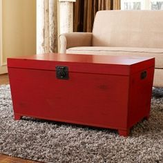 Contemporary styling and abundant storage inspired this angelo:HOME Pyramid trunk coffee table. Constructed with durable poplar and MDF woods and a matte black Asian trunk latch, this piece will conquer any design challenge. Coastal Curtains, Coastal Decor, Coastal Rugs, Coastal Bedding, Modern Coastal, Coastal Style, Red Pyramid, Multifunctional Furniture, Loft Furniture