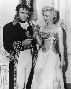 Marilyn visits Marlon Brando on the set of Desiree (1954)