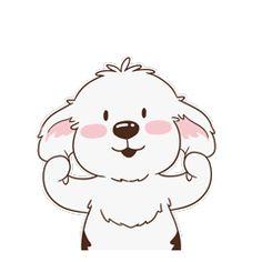 16 Super cute dog emoji gifs brings you joy Cartoon Gifs, Cute Cartoon, Gif Mignon, Dog Emoji, Super Cute Dogs, Old English Sheepdog, Beautiful Gif, Love Pet, Dog Quotes