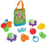 Cheap Fisher-Price Laugh and Learn Sing And Learn Shopping Tote  Soft tote with sing-along songs and learning fun Four pieces each with a feature to help foster early role play Play pieces easily fit inside