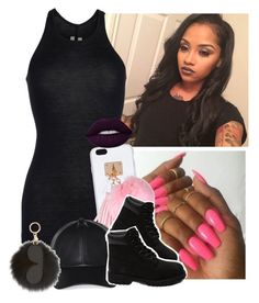 """""""Getting my hair done today """" by saucinonyou999 ❤ liked on Polyvore featuring Rick Owens, Ashlyn'd, Wilfred, Timberland, MICHAEL Michael Kors and Lime Crime"""