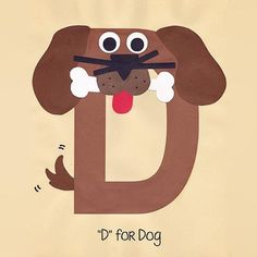 Alphabet Art Template - Upper D (Dog) - Crafts Ideas Preschool Letter Crafts, Alphabet Letter Crafts, Abc Crafts, Preschool Art Projects, Daycare Crafts, Alphabet Book, Alphabet Activities, Preschool Activities, Letter Tracing