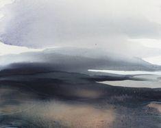 Aquarelle paysage Original abstrait peinture Art Art