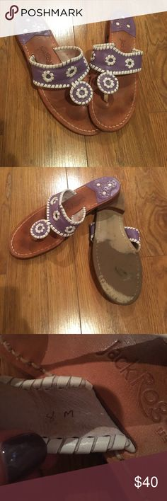 Jack Rogers  lavender and white Light purple and white jack Rodgers sandals. Size 8 lightly worn. Jack Rogers Shoes Sandals