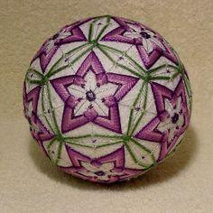 Japanese Temari Ball  My Purple Passion by DottiesTemaris on Etsy, $55.00