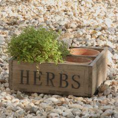 Wooden Herb Box