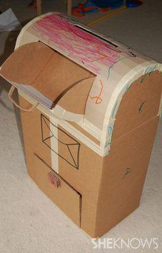Valentines Cardboard mailbox