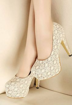 Image of [grzxy61900168]Elegant Sweet Sexy Lace Sliced Sequin High-heeled Party Shoes