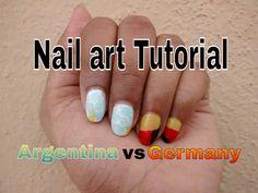 FIFA fever nail art tutorial - Argentina vs Germany - Ep 107 - by BangaloreBengaluru .. .. .. .. .. .. .. .. .. .. .. .. .. .. .. .. .. .. .. .. .. .. #bangalorebengaluru #nailart #tutorial #free #video #howto #blog #youtube #colorbar #fast #easy #cheap #cool #try #best #love #things #style #idea #like #stuff #inspiration #diy #favorite #art #design #streetwear #envy #FIFA #worldcup #2014 #Argentina #Germany #GermanyvsArgentina