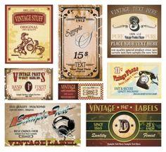 vintage wine label collection 05 vector