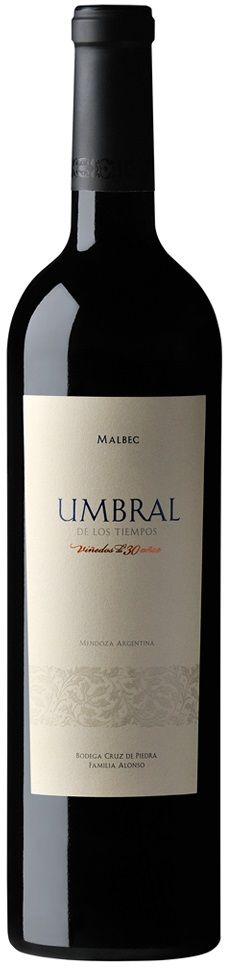 """""""Umbral de los Tiempos"""" Malbec 2012 - Bodega Cruz de Piedra, Maipú, Mendoza-------------------Terroir:  Cruz de Piedra (Maipú) & Valle de Uco------------------Crianza: 80% del vino durante 12 meses en  barricas de roble  francés y americano nuevas"""