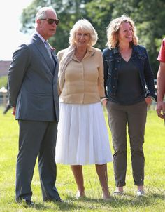 Camilla Parker Bowles Photos - Prince Charles, Prince of Wales, Camilla, Duchess of Cornwall and Kate Humble visit Humble by Nature Farm on July 9 2015 in Monmouth, Wales. Humble by Nature is a working farm which was saved from closure by Kate Humble and her husband Ludo Graham in 2010. It includes a rural skills centre as well as a farm shop, cafe and adventure playground. - The Prince of Wales & Duchess of Cornwall Visit Wales - Day 4