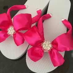 42e89b14acd58 Wedding Flip Flops for Bride Bridesmaids Sandals by RocktheFlops