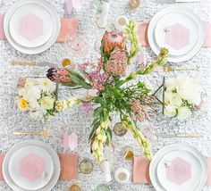 Gorgeous Tablescape for hosting girlfriends, a bridal shower, and perfect for a mothers day brunch. | Table Decor | Soft White and Peach Table Setting
