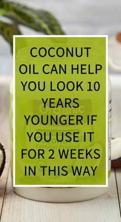 Coconut Oil Can Help You Look 10 Years Younger If You Use It For 2 Weeks In This Way Did you know that most of the cosmetic products that you can find on the market contain some questionable ingredients? Some of them are endocrine disruptions, carcinogens Herbal Remedies, Health Remedies, Home Remedies, Diarrhea Remedies, Bloating Remedies, Sleep Remedies, Natural Teething Remedies, Natural Cold Remedies, Hair Loss