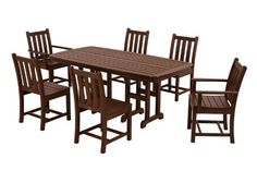 Nebraska Furniture Mart – PolyWood Traditional Garden 7 Piece Dining Set in Slate Gray Garden Dining Set, Outdoor Dining Set, Patio Dining, Outdoor Tables, Outdoor Decor, Dining Table, Outdoor Ideas, Outdoor Living, Wood Patio