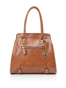 London Fog Knightsbridge Shoulder Tote (Cognac)