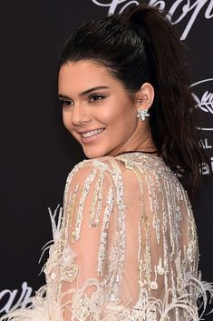 CANNES, FRANCE - MAY Kendall Jenner attends the Chopard Party during the annual Cannes Film Festival on May 2016 in Cannes, France. (Photo by Stephane Cardinale - Corbis/Corbis via Getty Images) Balmain Dress, Chopard, Cannes Film Festival, Kendall Jenner, Hair Trends, Pretty Dresses, Kardashian, Female Models, High Fashion