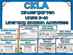 CKLA Kindergarten Units 3-10 Literacy Station Activities BUNDLEThese activities are great for stations and workshops. The specific phonemes, initial and final consonant blends, digraphs, double consonant spellings, tricky words, and long vowel spellings in these activities come from the CKLA Kindergarten Skills Units 3-10.You can check out the individual listings and previews here:Initial Sound Match Activity CKLA Kindergarten Skills Unit 3Initial Sound Match Activity CKLA Kindergarten…