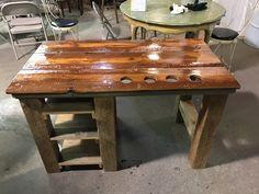 Custom artist desk made from reclaimed barn wood Reclaimed Barn Wood, Desk, Cool Stuff, Artist, Projects, Log Projects, Desktop, Blue Prints, Table Desk