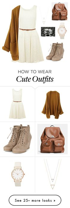 """""""Cute fall outfit"""" by aliya-candan on Polyvore featuring Yumi, INC International Concepts and Coach"""