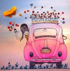 Feliz Domingo shared by Letty Martinez on We Heart It Illustrations, Illustration Art, Love Bugs, New Day, Birthday Wishes, Peace And Love, Namaste, Watercolor Art, Good Morning