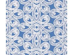 Lee Jofa LILLY LACE TIDE BLUE 2011113.5 - Lee Jofa New - New York, NY, 2011113.5,Lee Jofa,Embroidery,White,Up The Bolt,Lilly Pulitzer,Upholstery,India,Yes,Lee Jofa,LILLY LACE TIDE BLUE