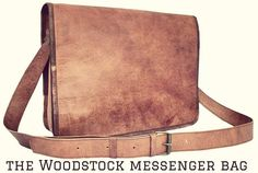 the Woodstock messenger bag #fashion  #messengerbag #travel #student #genuineleather