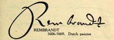 Rembrandt Signature Dutch Painters, Rembrandt, Monogram, Van, Notes, Amsterdam, Paintings, Artists, Signs